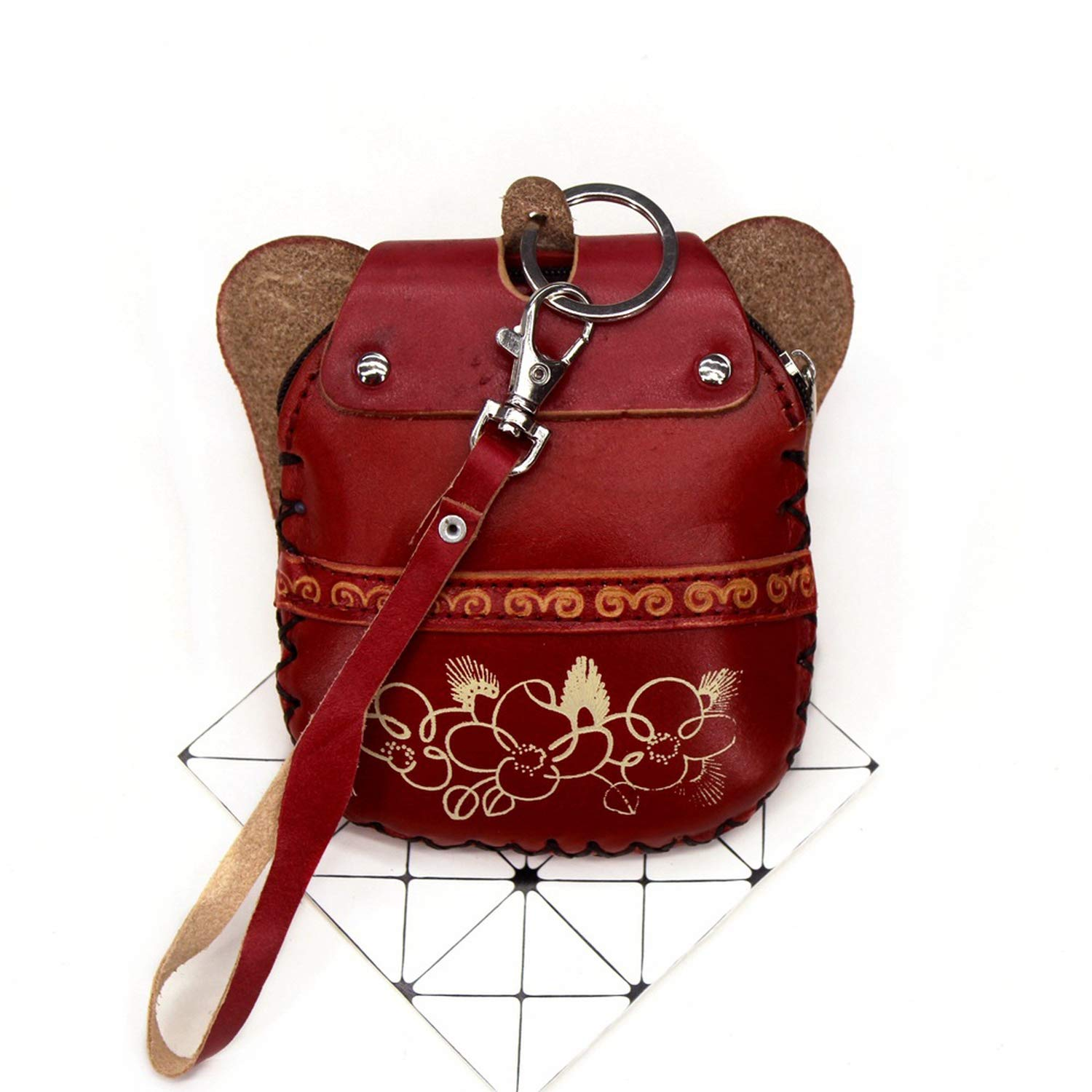Genuine Leather Coin Purses Women Cute Animal Elephant Model Design Of Purse Girls Coin Bags Pouch