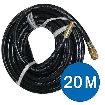 MANGUERA NEUMATICA REFORZADA 8 MM de aire comprimido con conexion rapida 20 BAR - 20 METROS - ENVIO 48 HORAS: Amazon.es: Bricolaje y herramientas