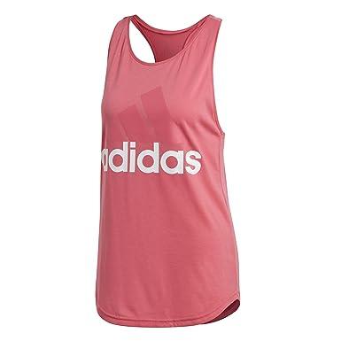 a4254fb373 adidas ESS Lin Lo Tank Camiseta, Mujer, (Rosa/Blanco), 2XS: Amazon.es: Ropa  y accesorios