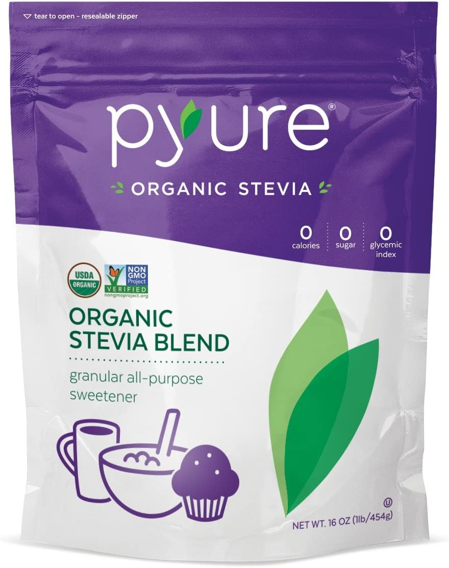 Pyure Organic Stevia All-Purpose Blend Sweetener, 16 Ounce Pack of 2