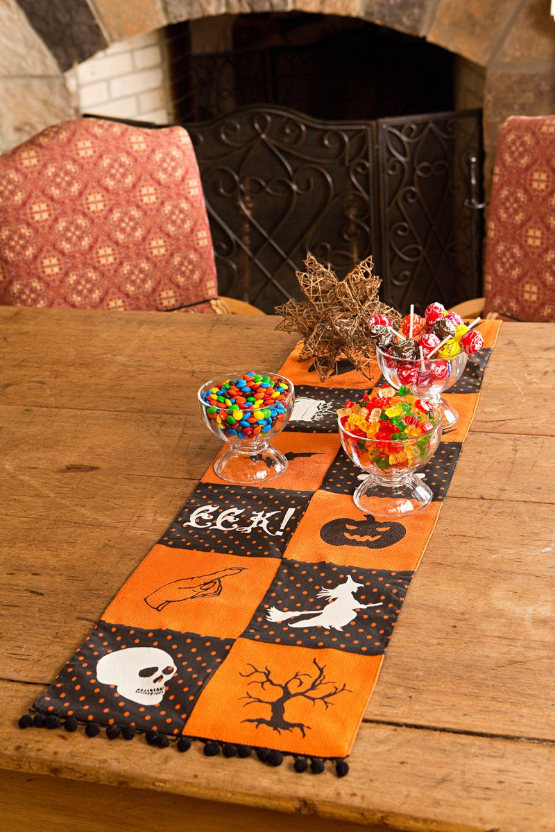 Xia Home Fashions Halloween Patchwork Table Runner, 13 by 108'' by Xia Home Fashions (Image #2)