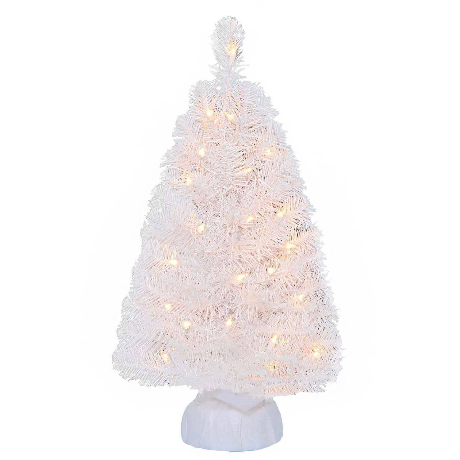 1 24 inch Snowy White Christmas Tree Pre-lit Battery Operated Lights . Eclectic Blackbird Small Artificial Christmas Tree Pre-lit