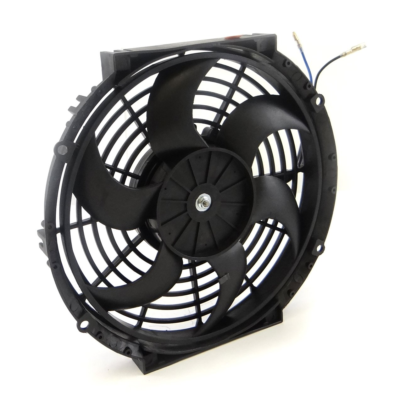 Set Of 2 Universal 10 Inch Slim Fan Push Pull Electric Flexalite Black Magic Series Coximportcom A Radiator Cooling 12v Mount Kit Automotive