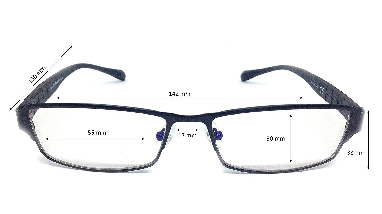 Pixel Lens Pro TV CERTIFICADA LUZ Azul Gafas para Ordenador Montura Ligera 41/% Y UV -100/% EN LA Universidad DE TUR/ÍN Tablet,Gaming Confort Visual contra EL CANSANCIO Ocular