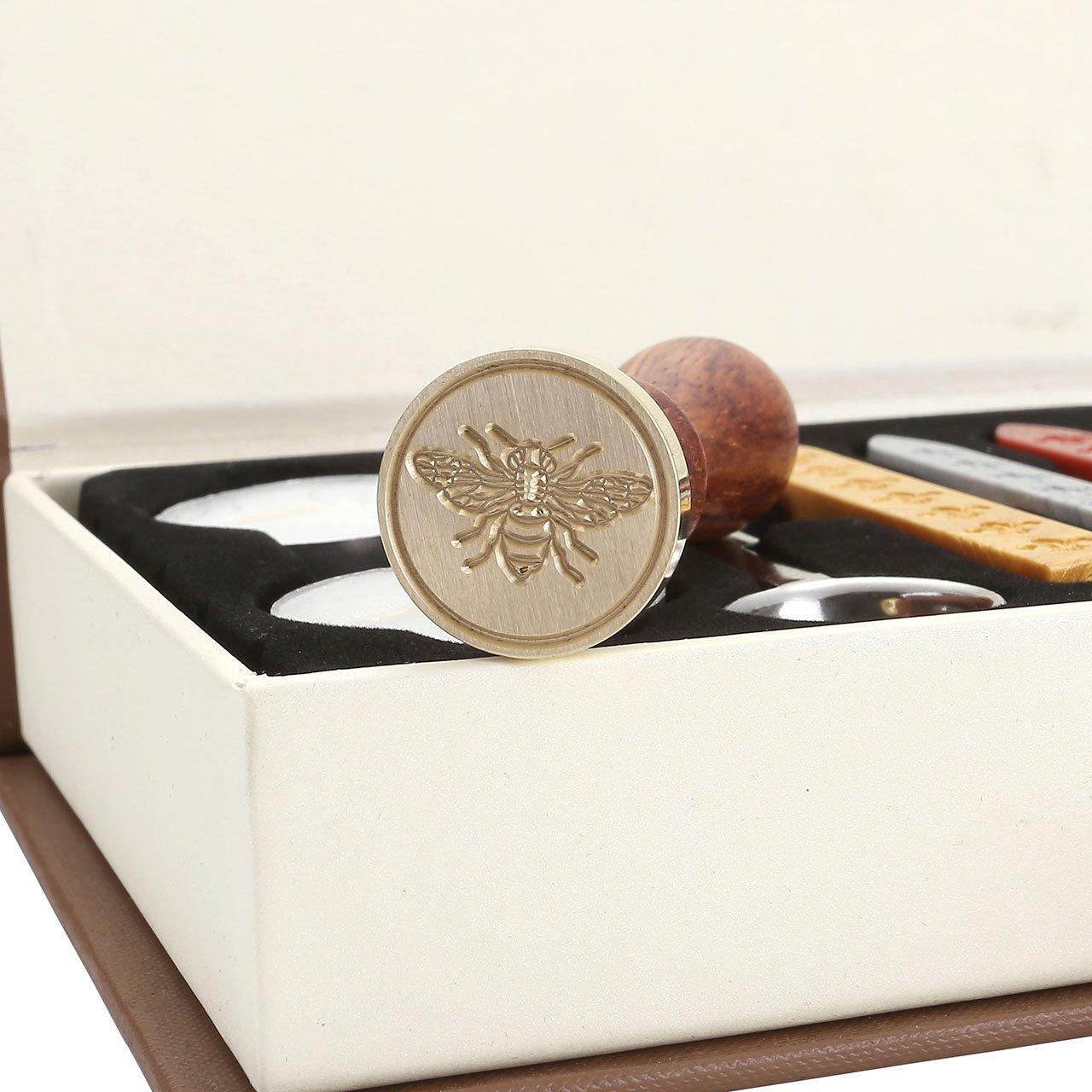 3*Ceralacca Wedding Mogoko Sigillo Cera Cera Stick Spoon Francobolli Vintage Kit per Lettera Personalizzata Timbri Personali IL MIGLIORE REGALO SET