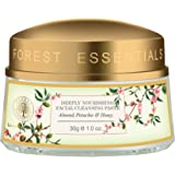 Forest Essentials Deeply Nourishing Facial Cleansing Paste, Almond, Pistachio and Honey, 30g