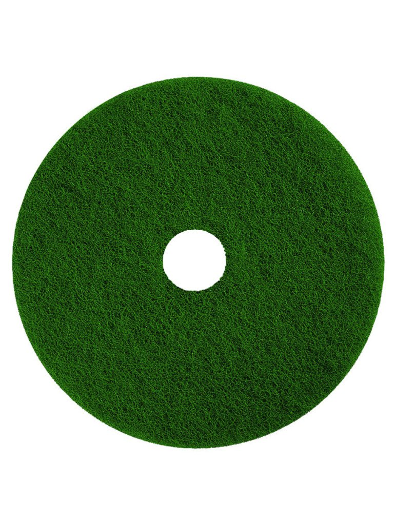 3M Scotch-Brite Premium Floor Scrubbing Pads 15' Green 38cm - Pack of 5