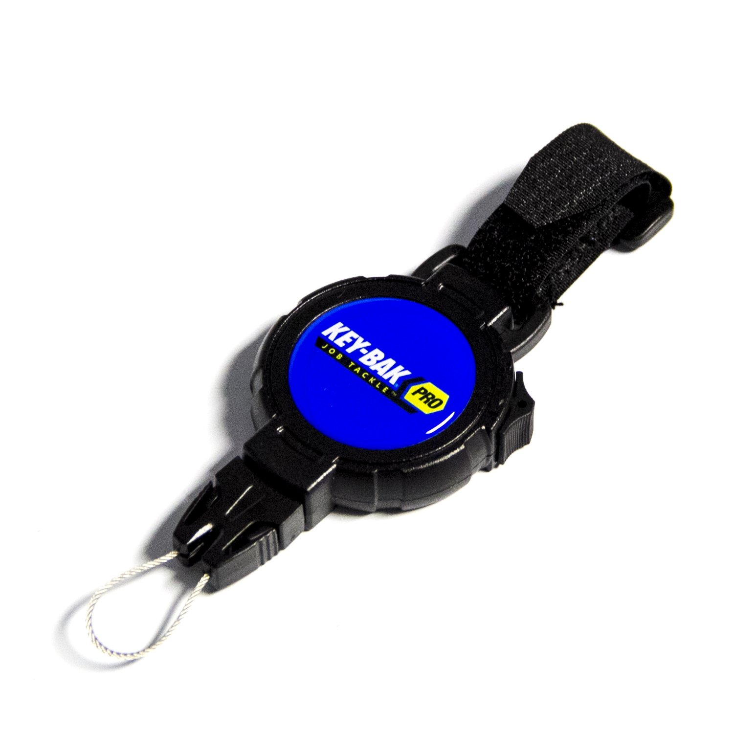 KEY-BAK Pro JobTackle Any Gear Tether with a 48'' Kevlar Tether, 8 oz. Retraction, Tether Lock, Any Gear End Fitting and Hook/Loop Strap Attachment
