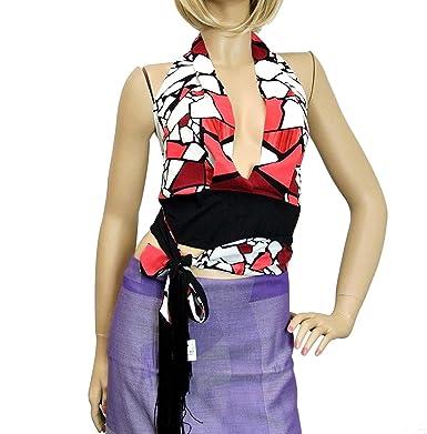 dd6d25f66 Amazon.com: Gucci Women's Red White Black Silk Elastane Tassel One Size Halter  Top 233694: Clothing
