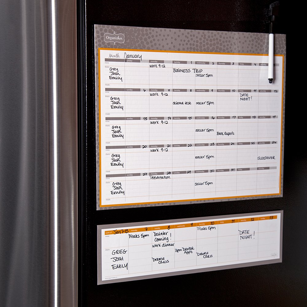 Magnetic Monthly Calendar For Refrigerator : Online store monthly calendar planner magnetic board dry erase
