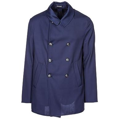 3852ee90157 Emporio Armani Manteau Homme blu Navy 50 EU  Amazon.fr  Vêtements et  accessoires