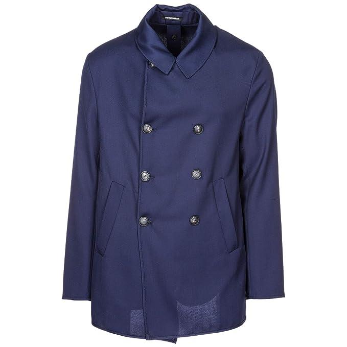 53602a288b Emporio Armani Cappotto Uomo Blu Navy 50 EU: Amazon.it: Abbigliamento