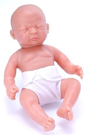 Belonil Little Tiny, muñeca europea con pañal y ojos cerrados, 24 cm (The