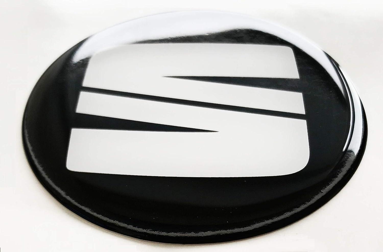 LogoEmbl Rad Mitte Aufkleber 4 x 90mm f/ür Radkappen SeatLogo Embleme Mittelkappen Silikon