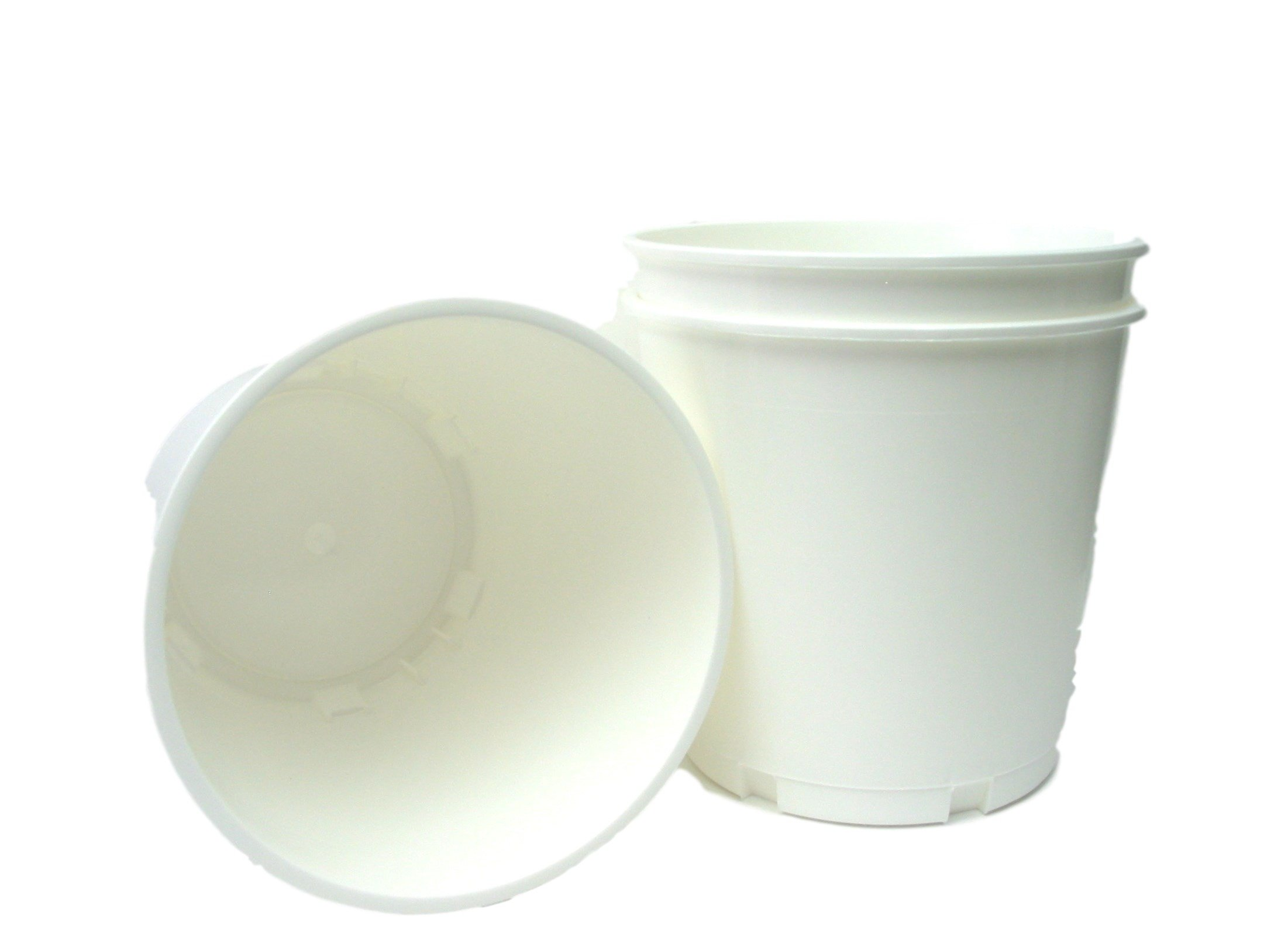 Talisman Utility Buckets, 176 Ounces, Pack 3, Color White