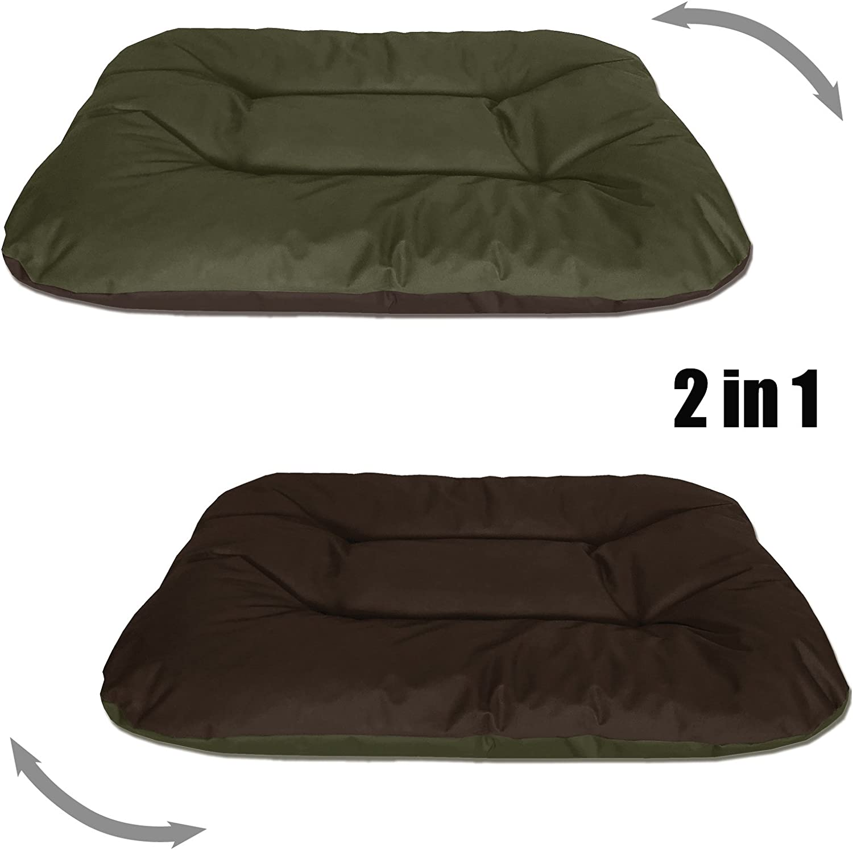 BedDog® Rex 2en1 Negro/Beige XXL Aprox. 120x100x14cm colchón para ...