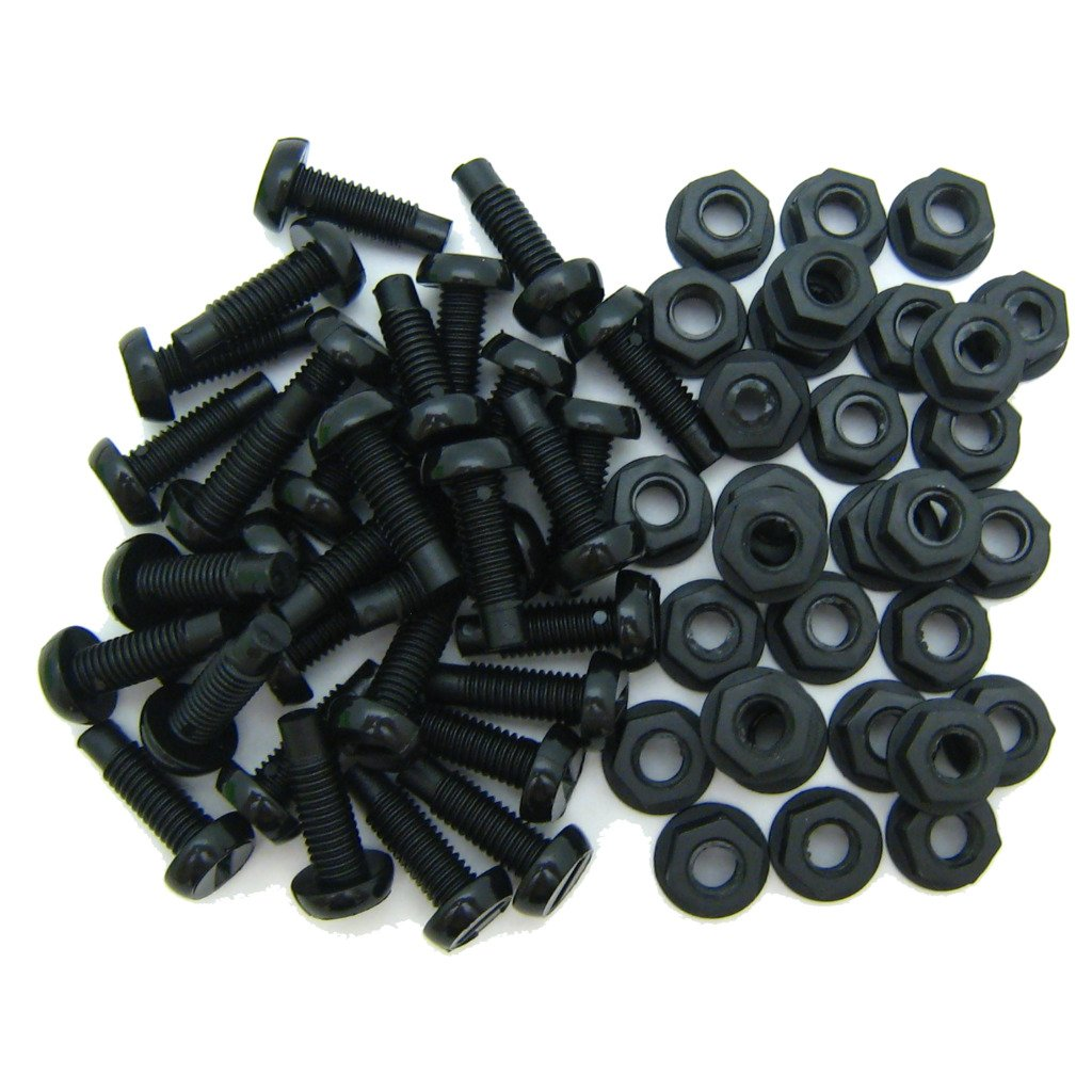 All Trade Direct 30 Pk Black Plastic Number Plate Fixing Bolts /& Nuts
