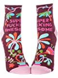 Blue Q Socks, Women's Ankle, Super F--king Awesome