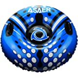 Snow Tube - Air Tube 39 Inch Inflatable Snow/Sled with Rapid Valves - Aqua Leisure Winter Inflatable Round Snow Tube with vinyl tube repair kit - With thickening bottom of 50mm!!(Blue)