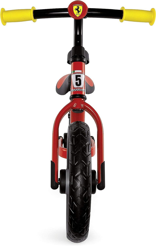 Chicco Ferrari - Bicicleta de Paseo Infantil con Ruedas de protección contra Puntadas, Cuadro de Metal Ultraligero, Manillar Ajustable y Asiento, Asiento Suave, 85 x 60 cm: Amazon.es: Bebé