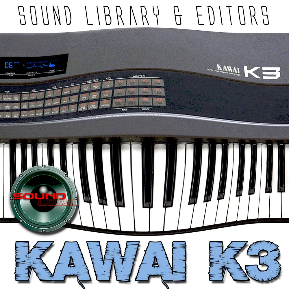 KAWAI K3 - Huge Original Factory and New Created Sound Library & Editors on CD or download