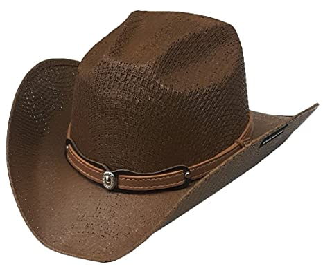 445c973bd96 Image Unavailable. Image not available for. Colour: Modestone Kids Straw  Cowboy Hat ...