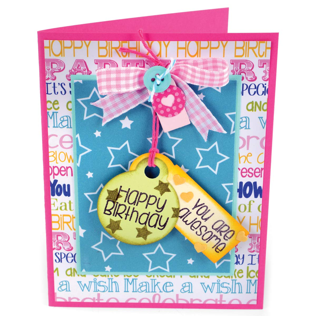 Sizzix Framelits Die and Clear Acrylic Stamp Set Tags and Words (8 Pack)