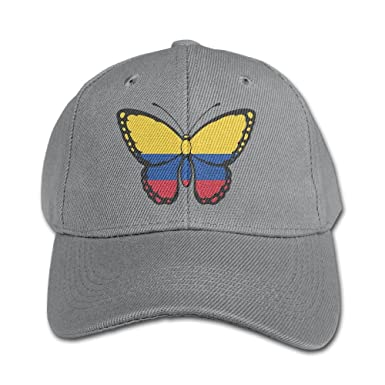 dad128abe82 Colombia Flag Butterfly Kids Adjustable Snapback Curved Visor Baseball Caps  Toddler Custom Hat at Amazon Men s Clothing store