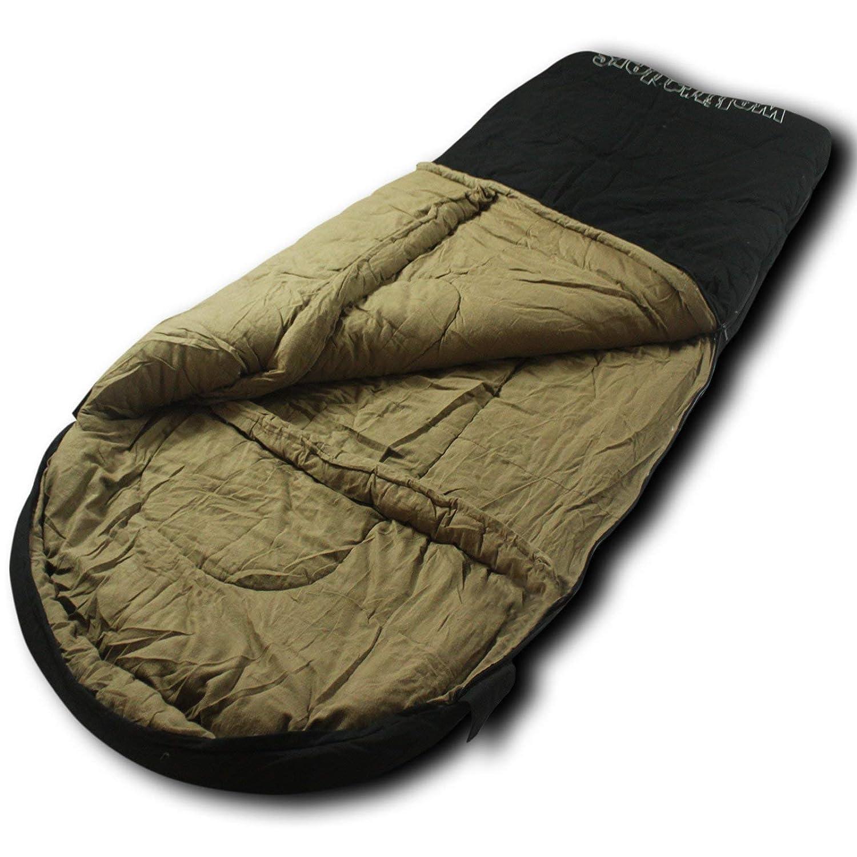 Wolftraders LoneWolf -30 Degree Premium Canvas Oversized Sleeping Bag [並行輸入品] B07R4WXBN6