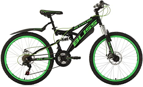 KS Cycling Niños Jóvenes Bicicleta Mountain Bike Fully Bliss RH 38 ...