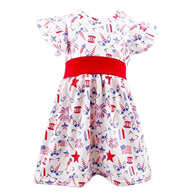 e71480dae Image Unavailable. Image not available for. Color: 4th of July Girls Dresses  - Little Girl ...