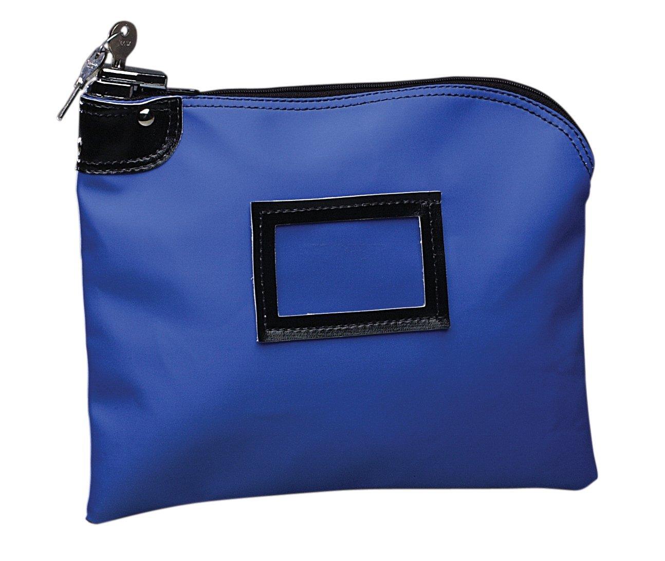 PM Company SecurIT Nylon Night Deposit Bag with Lock, 9 x 12 Inches, Blue, 1 per Box (04629)