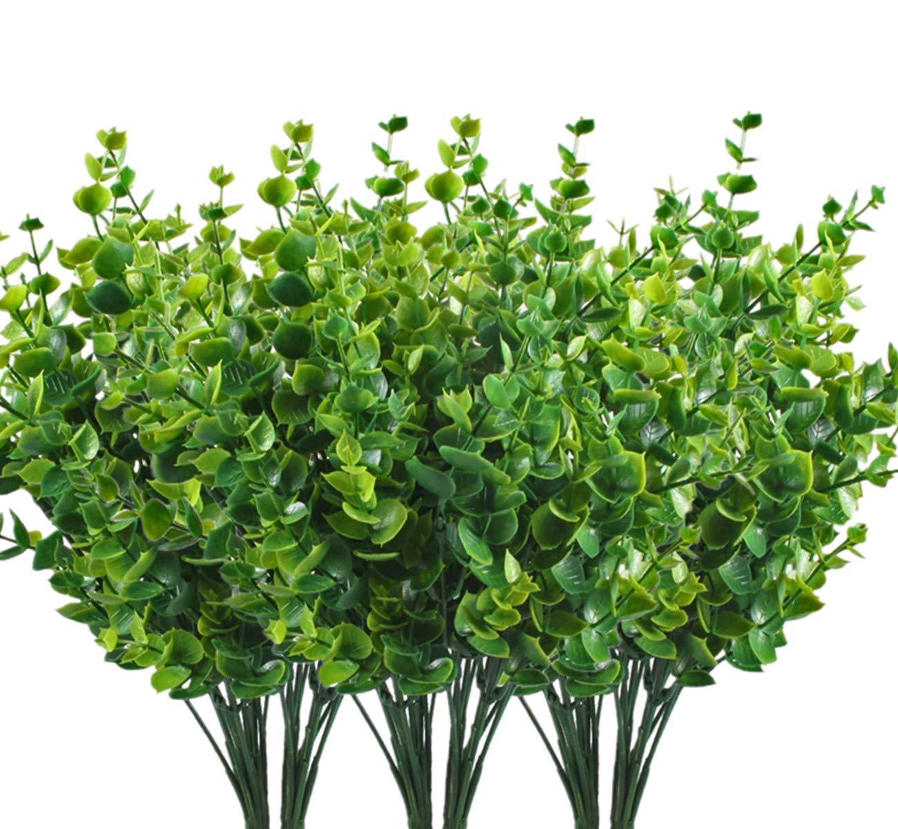 cattree人工バラ花、プラスチック植物シルクFakeローズウェディングブライダルブーケパーティーインドアアウトドアDIYホームガーデンベランダオフィステーブルセンターピースArrangements装飾 B07D8NG11S Coffee Brown-4pack