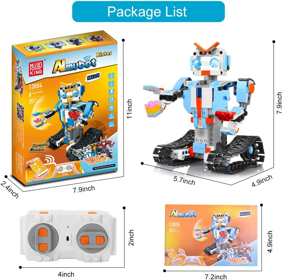 Longruner Building Blocks Robot Kit for Kids,Remote APP Control Robot Toys Engineering Science Educational Building Toys for 8,9-12 Year Old Boys and Girls
