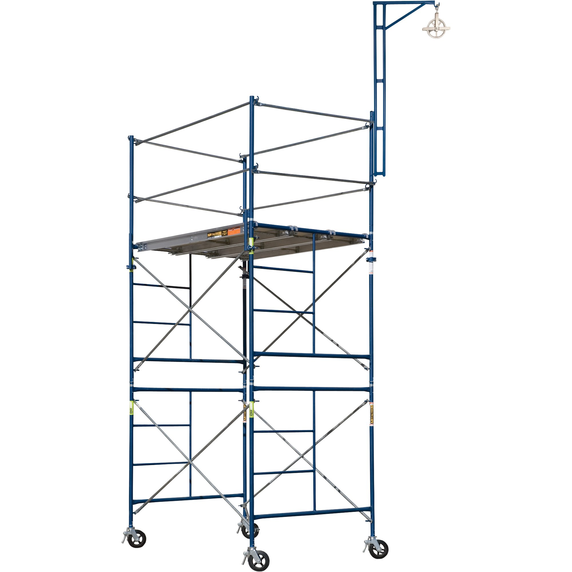 Metaltech SAFERSTACK Complete 2-Section High Tower Scaffolding System, Model Number M-MRT5710 by Metaltech