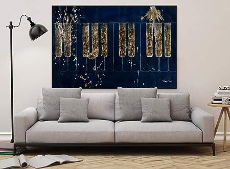 Kunstloft® Extraordinario Cuadro al óleo Golden Keys ...