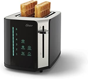Oster 2-Slice Touchscreen Toaster with Easy Touch Technology and Digital Countdown Timer, Stainless Steel