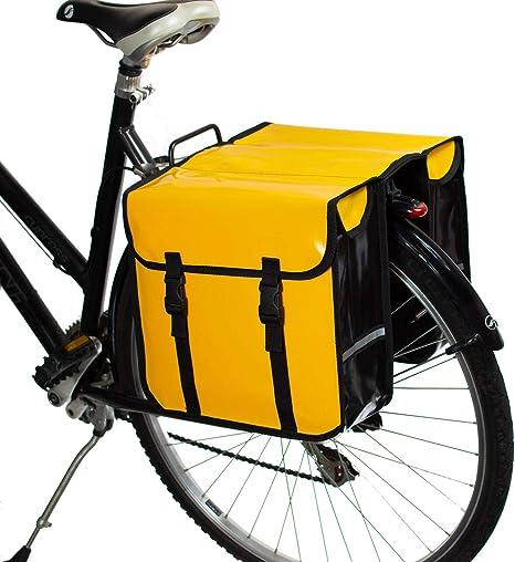BikyBag - Doble Alforjas para Bicicletas Impermeables (Amarillas): Amazon.es: Deportes y aire libre