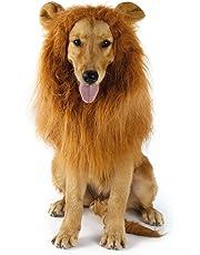 Hund Löwe Mähne, YKS Haustier Löwenmähne Lion Hunde Perücke für Festival Party Kleidung Schals Kostüm Hund