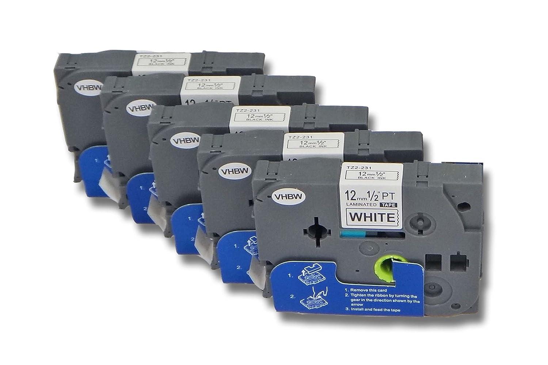 H300 vhbw/® Schriftband f/ür Brother TZE-211 H75S schwarz//wei/ß P-Touch D200VP 6 mm x 8 m H300LI H75 H105 E300 H100 GL-100