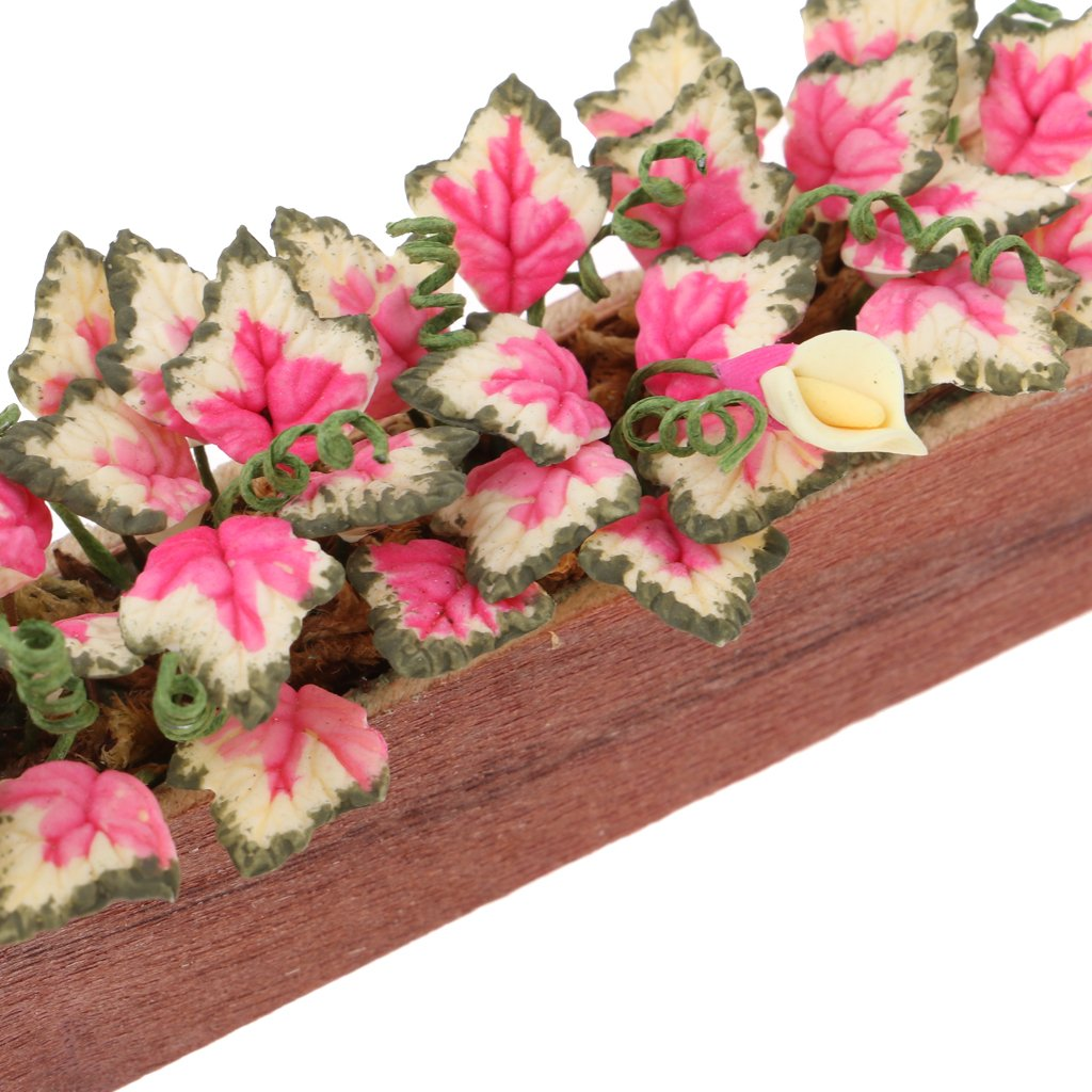 MagiDeal Dollhouse Miniature Fairy Garden Decor 1//12 Flowers Bush Potted Plants Model Life Scenes Ornaments