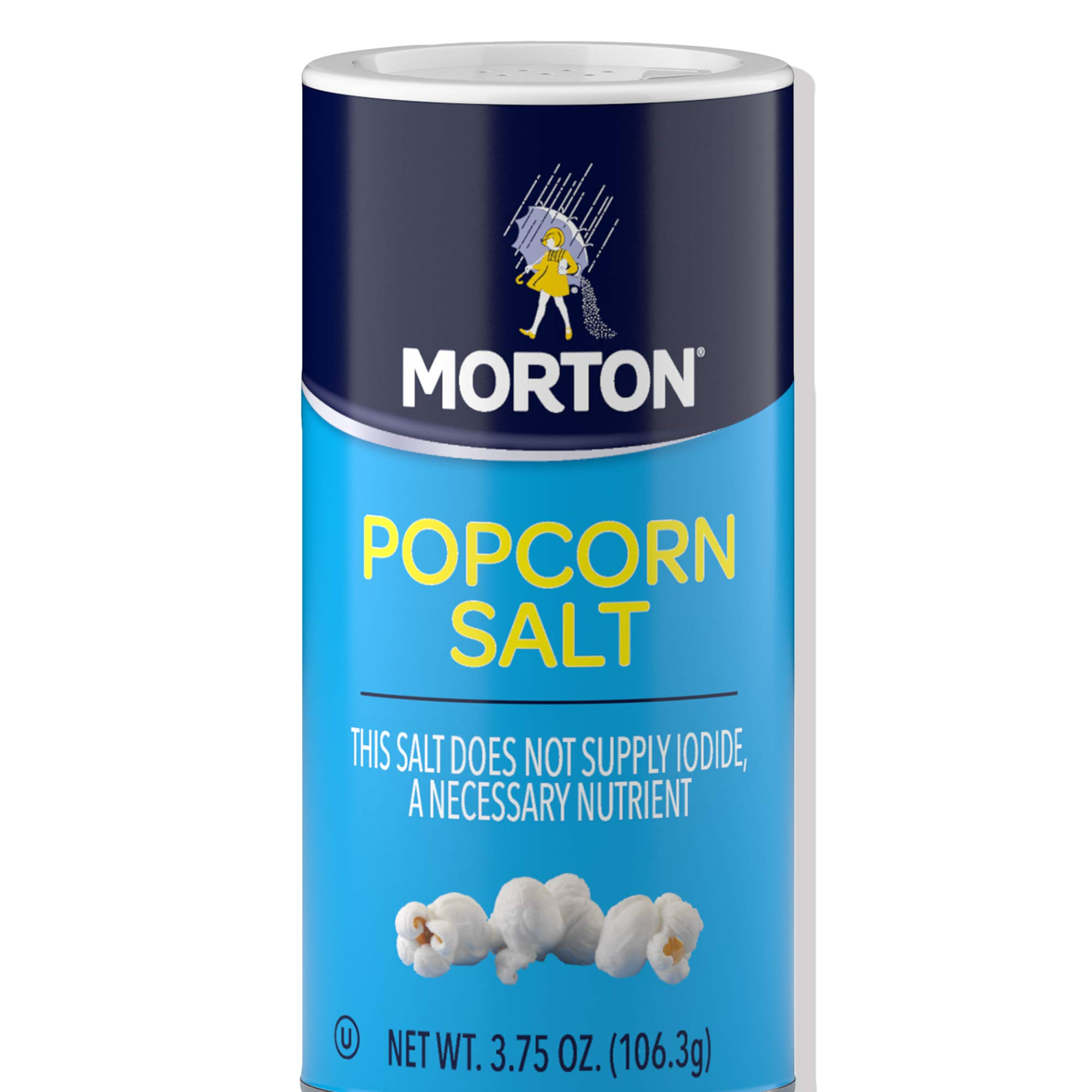 Morton Popcorn Salt - For Popcorn Seasoning and a Gourmet Popcorn Taste, 3.75 OZ Shaker (Pack of 12)