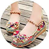 Wholesale Women Casual Shoes Wedges Old Beijing Cloth Shoes and Butterflies Cross-Border Women's Sandals Flower