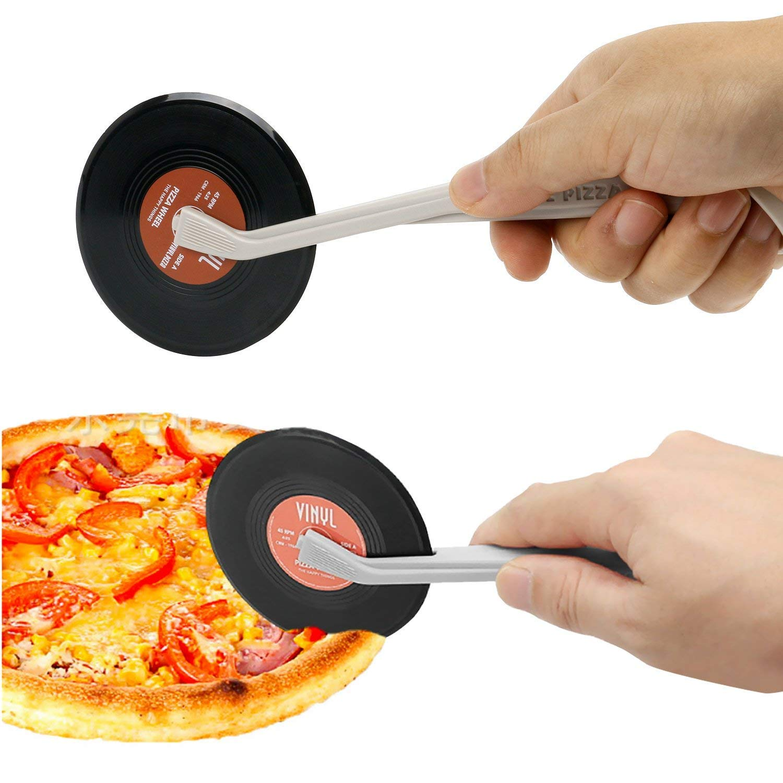 TOOGOO Vintage Vinile Disco Pizza Fresa Novita Strambo Cucina Aiuto