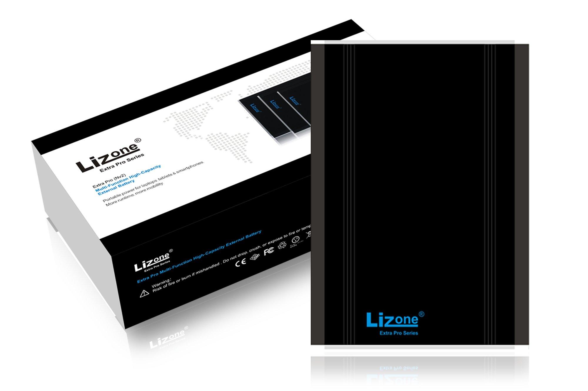 Lizone Extra Pro 40000mAh Laptop Portable External Battery Power Bank for IBM Lenovo ThinkPad IdeaPad Yoga Pro Flex Helix Carbon Ultrabook; USB Charger for Tablet or smartphones (40000mAh)