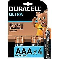 Duracell Ultra Alkalin AAA İnce Kalem Piller,4'lü paket
