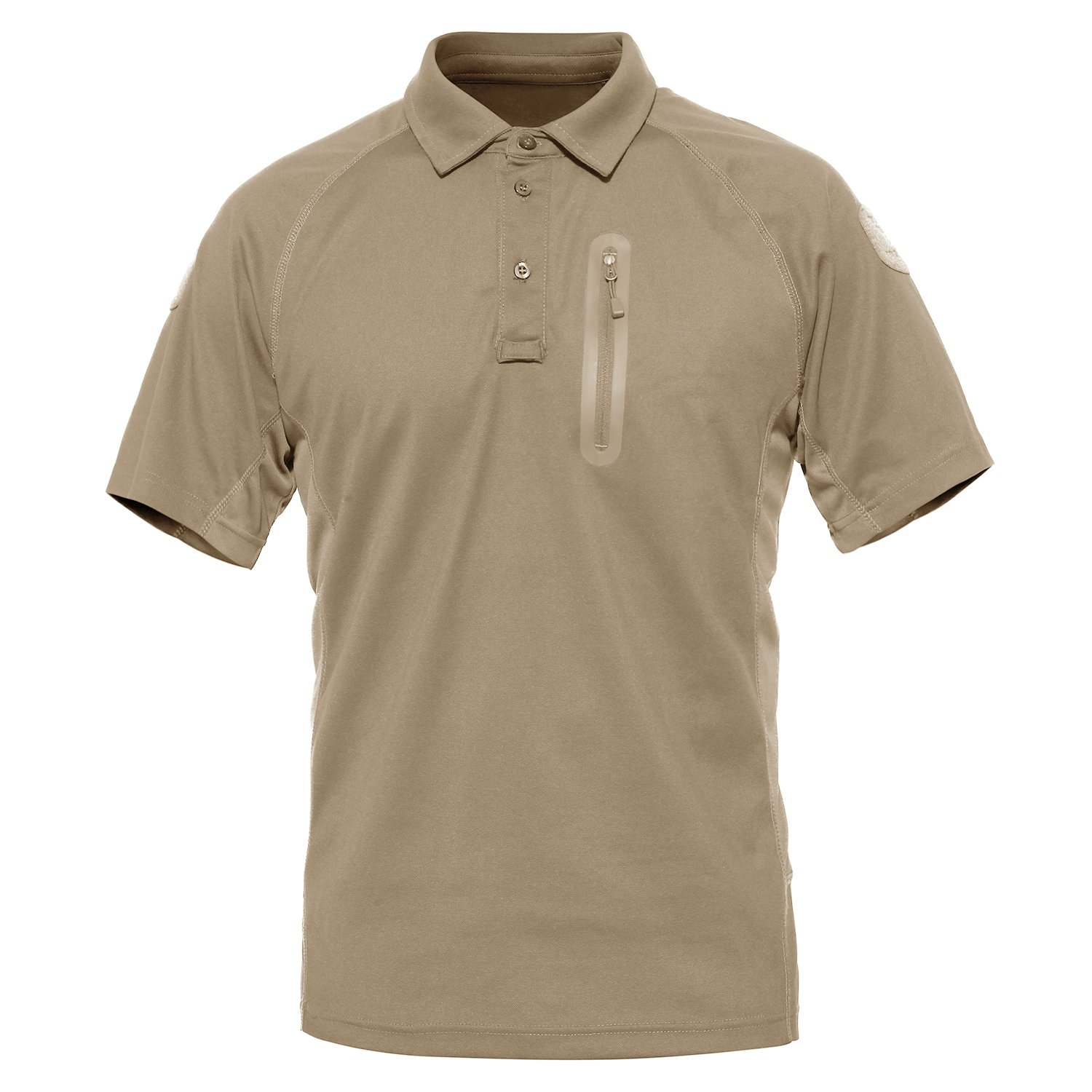 MAGCOMSEN Mens Outdoor Lightweight Breathable Short Sleeve Combat Polo T-Shirt MCSPL13-35