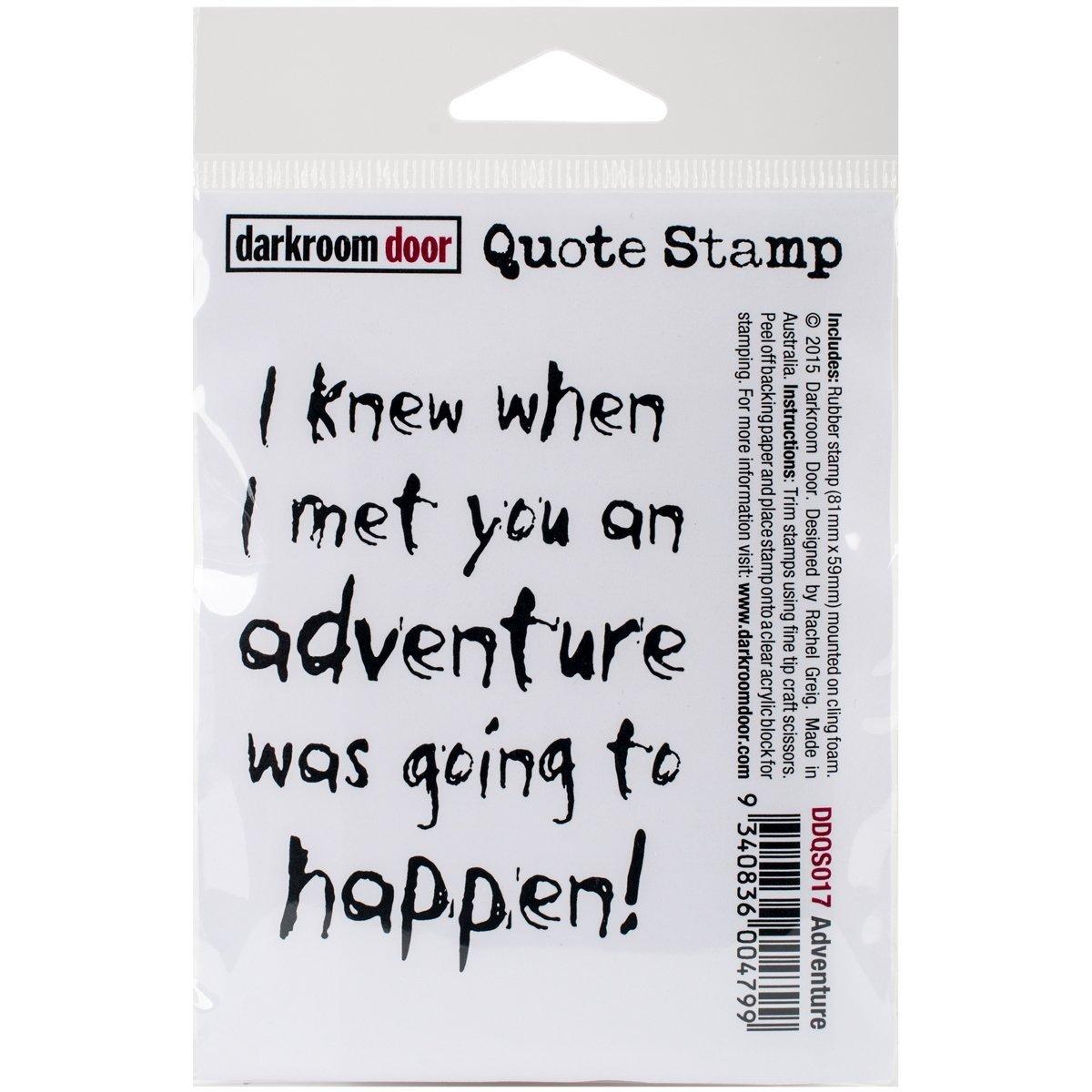Darkroom Door Cling Stamp 3 X2 -Adventure B00UZ1C37M | Die Farbe ist sehr auffällig