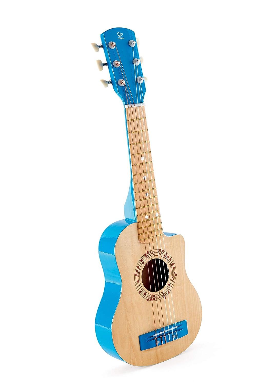 Hape-HAPE-E0601-Instrument de Musique Guitare Lagon Bleu Jouets en Bois E0601 Taille Unique Multicolore