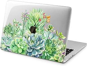 "Cavka Hard Shell Case for Apple MacBook Pro 13"" 2019 15"" 2018 Air 13"" 2020 Retina 2015 Mac 11"" Mac 12"" Plants Greenery Plastic Protective Heap Succulent Laptop Nice Print Flowers Design Cover Garden"